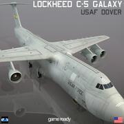 Lockheed C-5 Galaxy USAF DOVER 3d model