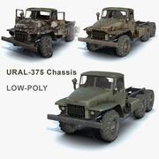 Ural-375 Chassis Set 3d model