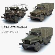 Ural-375 Flachbettset 3d model