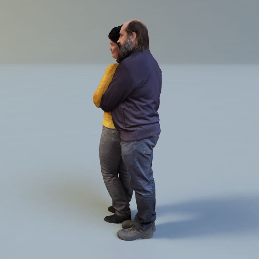 man and woman royalty-free 3d model - Preview no. 3