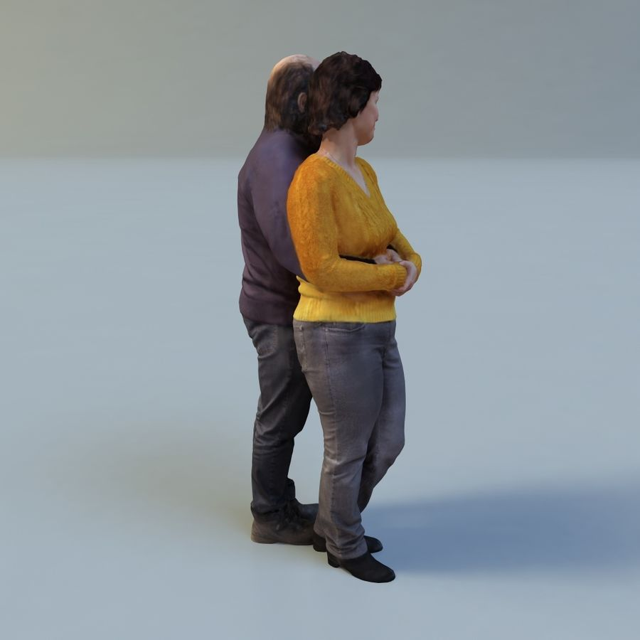 man and woman royalty-free 3d model - Preview no. 9