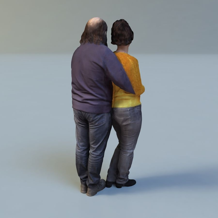 man and woman royalty-free 3d model - Preview no. 7