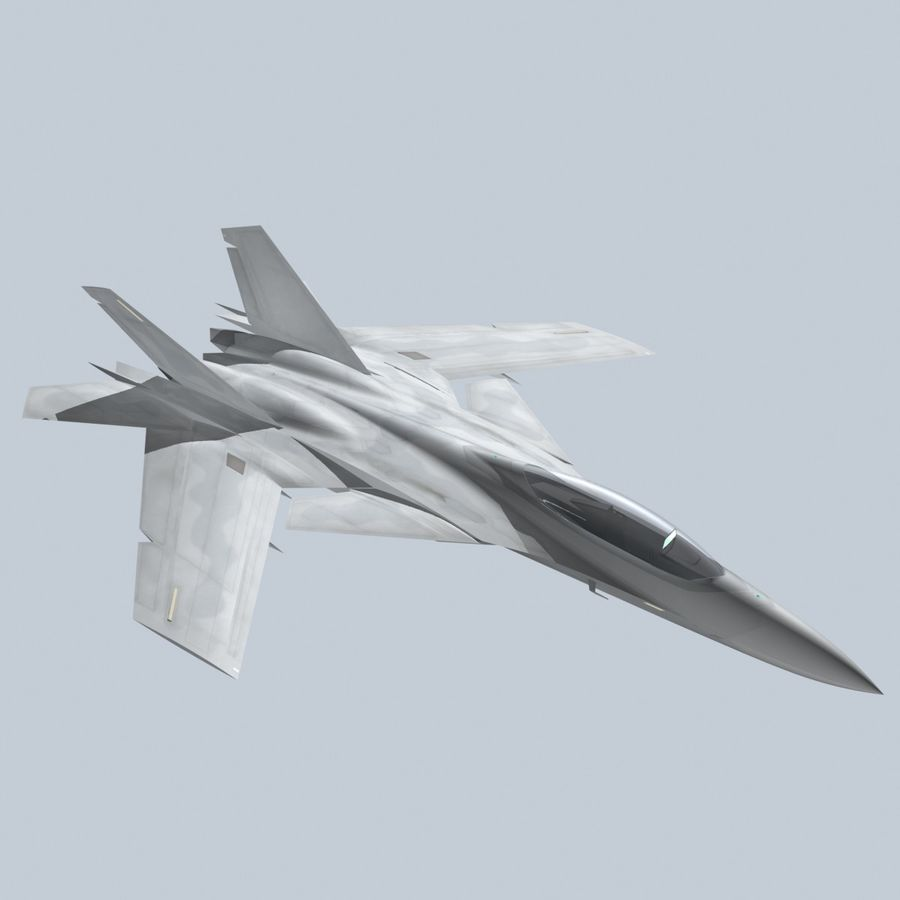 Concept Fighter (KF2-HAMMER) royalty-free 3d model - Preview no. 9