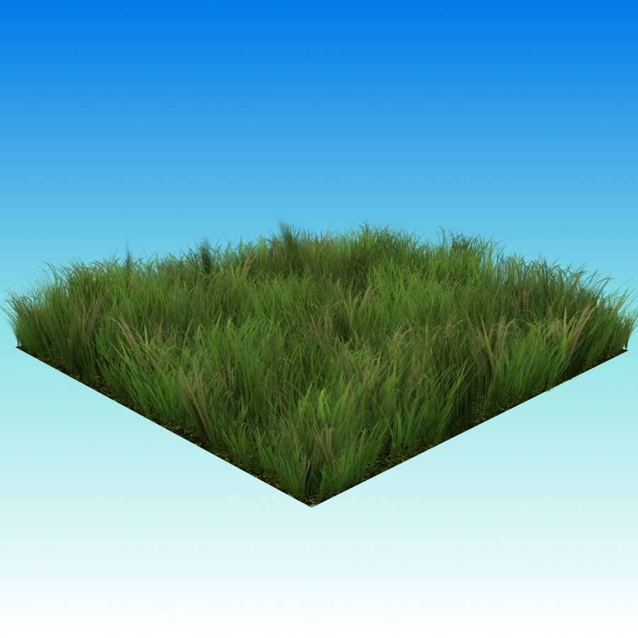 Grass Lowpoly Game Ready royalty-free 3d model - Preview no. 2