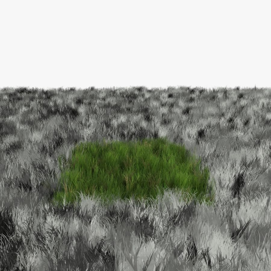 Grass Lowpoly Game Ready royalty-free 3d model - Preview no. 6