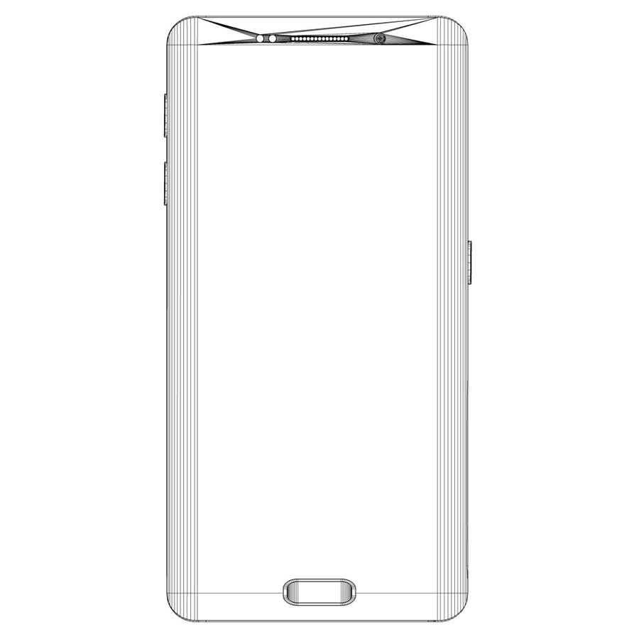 Samsung Galaxy S6 edge silver royalty-free 3d model - Preview no. 5