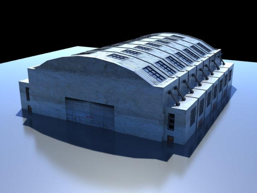 Ангар для технического обслуживания самолетов royalty-free 3d model - Preview no. 5