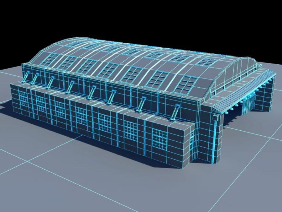Ангар для технического обслуживания самолетов royalty-free 3d model - Preview no. 8