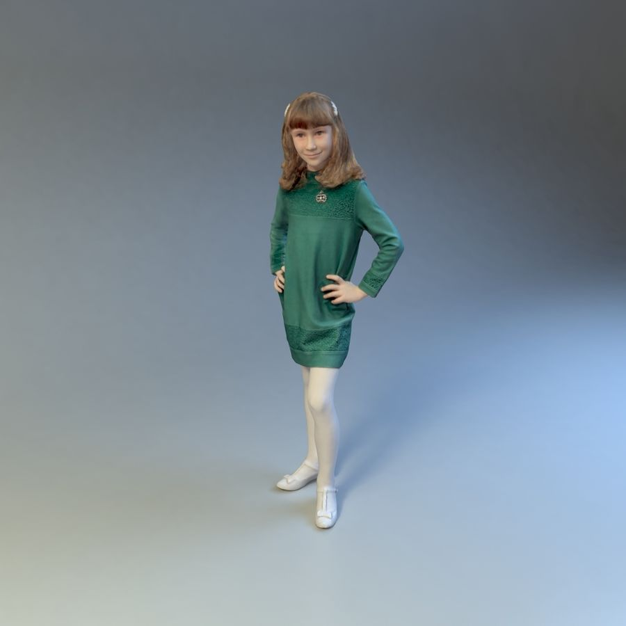 女の子 royalty-free 3d model - Preview no. 2