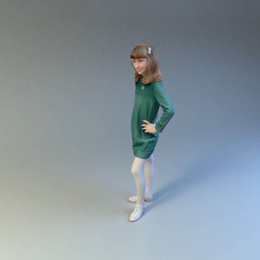 女の子 royalty-free 3d model - Preview no. 4