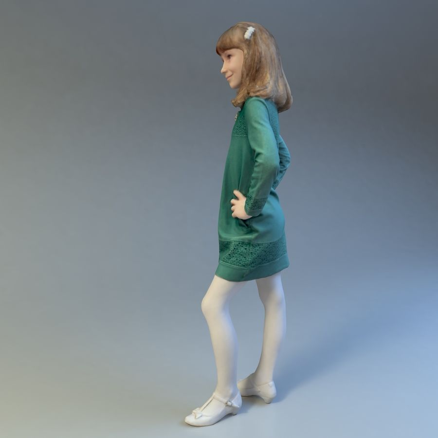 女の子 royalty-free 3d model - Preview no. 5