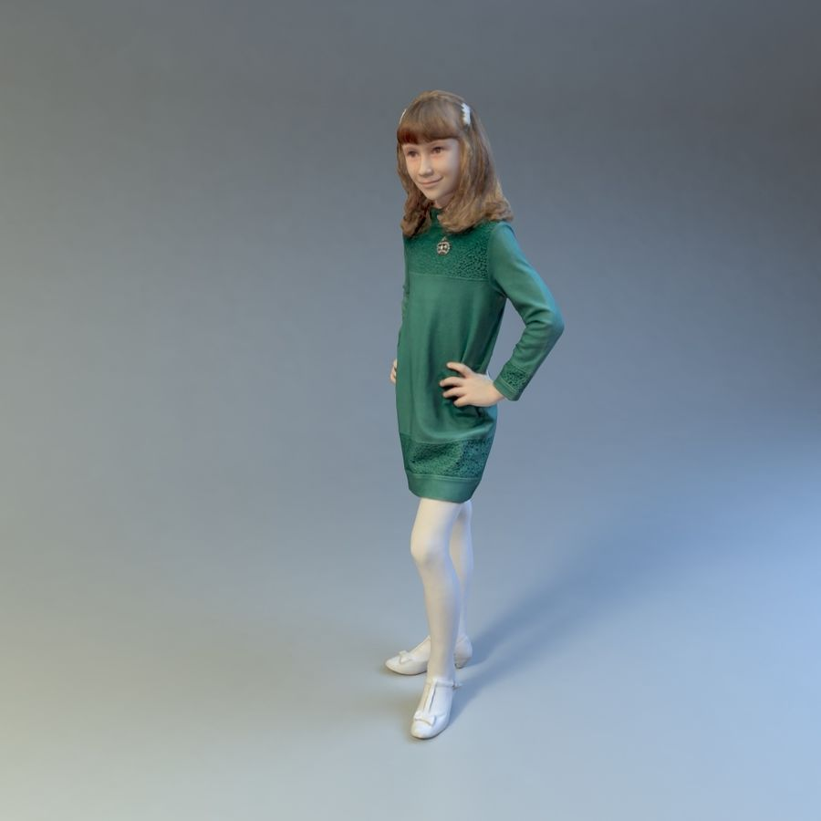 女の子 royalty-free 3d model - Preview no. 6