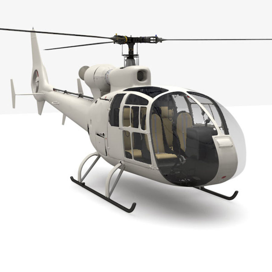 Aerospatiale Gazelle Helicopter royalty-free 3d model - Preview no. 1