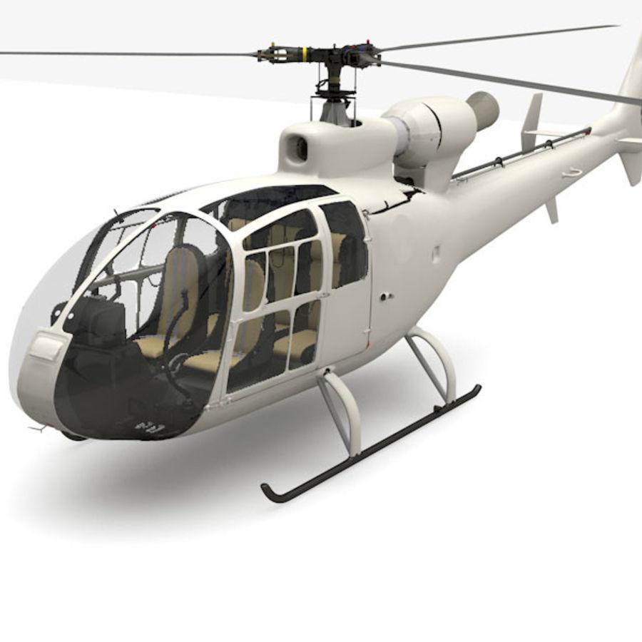 Aerospatiale 가젤 헬리콥터 royalty-free 3d model - Preview no. 3
