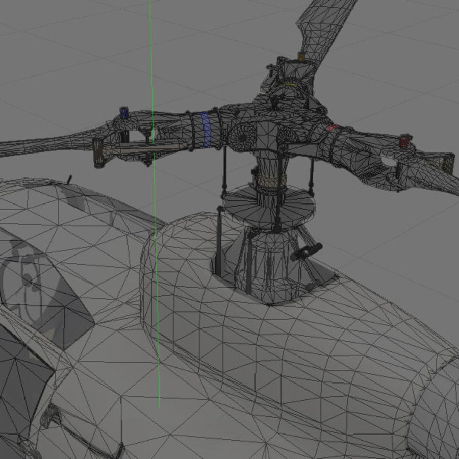 Aerospatiale Gazelle Helicopter royalty-free 3d model - Preview no. 8