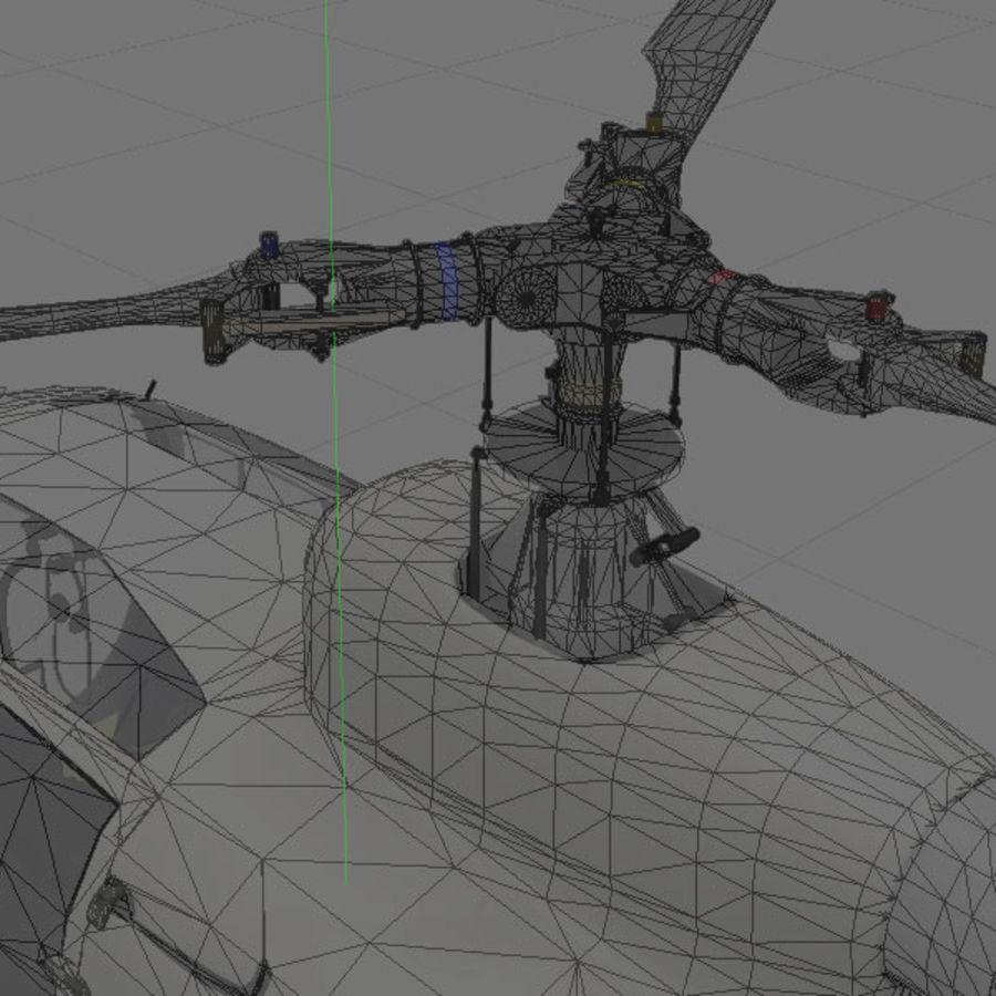 Aerospatiale 가젤 헬리콥터 royalty-free 3d model - Preview no. 8