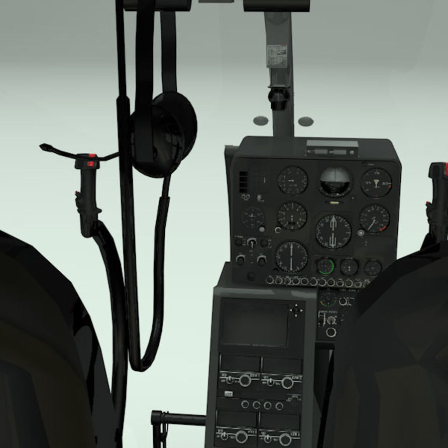 Aerospatiale Gazelle Helicopter royalty-free 3d model - Preview no. 5