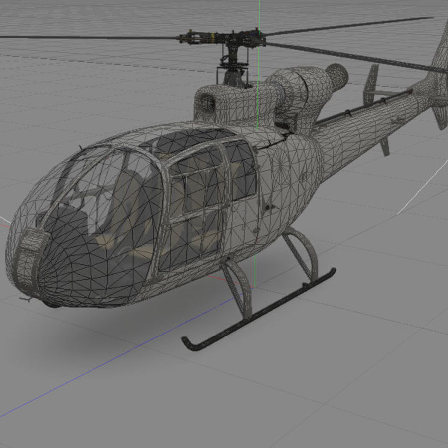 Aerospatiale Gazelle Helicopter royalty-free 3d model - Preview no. 4