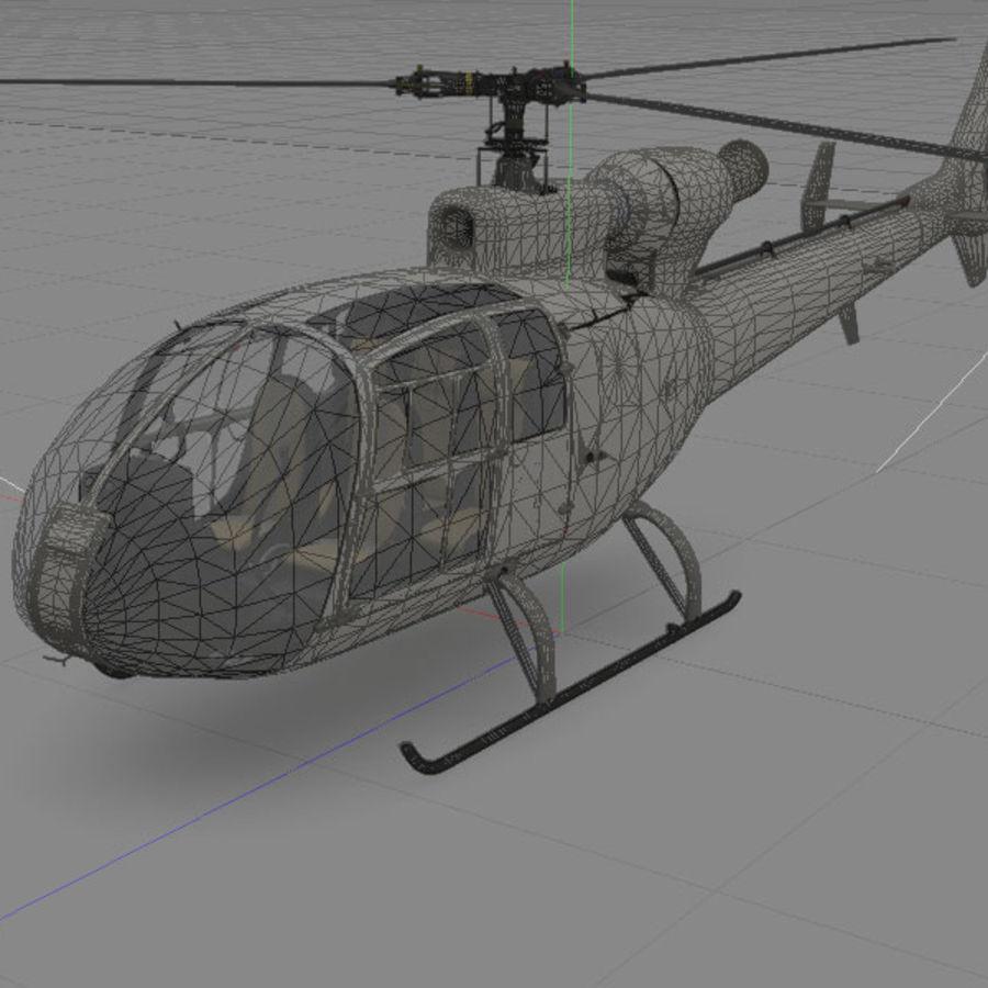 Aerospatiale 가젤 헬리콥터 royalty-free 3d model - Preview no. 4