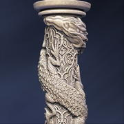 Dragon column 3d model
