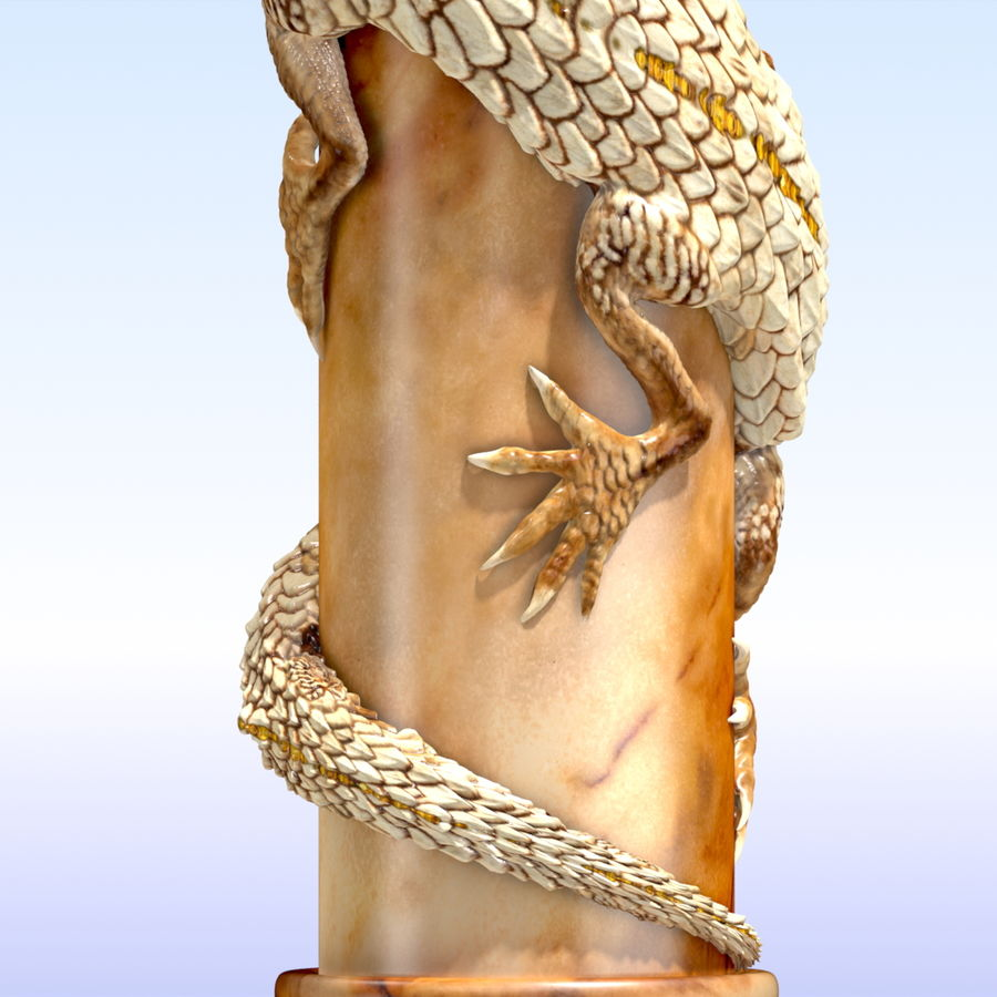 Dragon column royalty-free 3d model - Preview no. 8