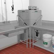 Restaurant Dishwasher Machine 3d model
