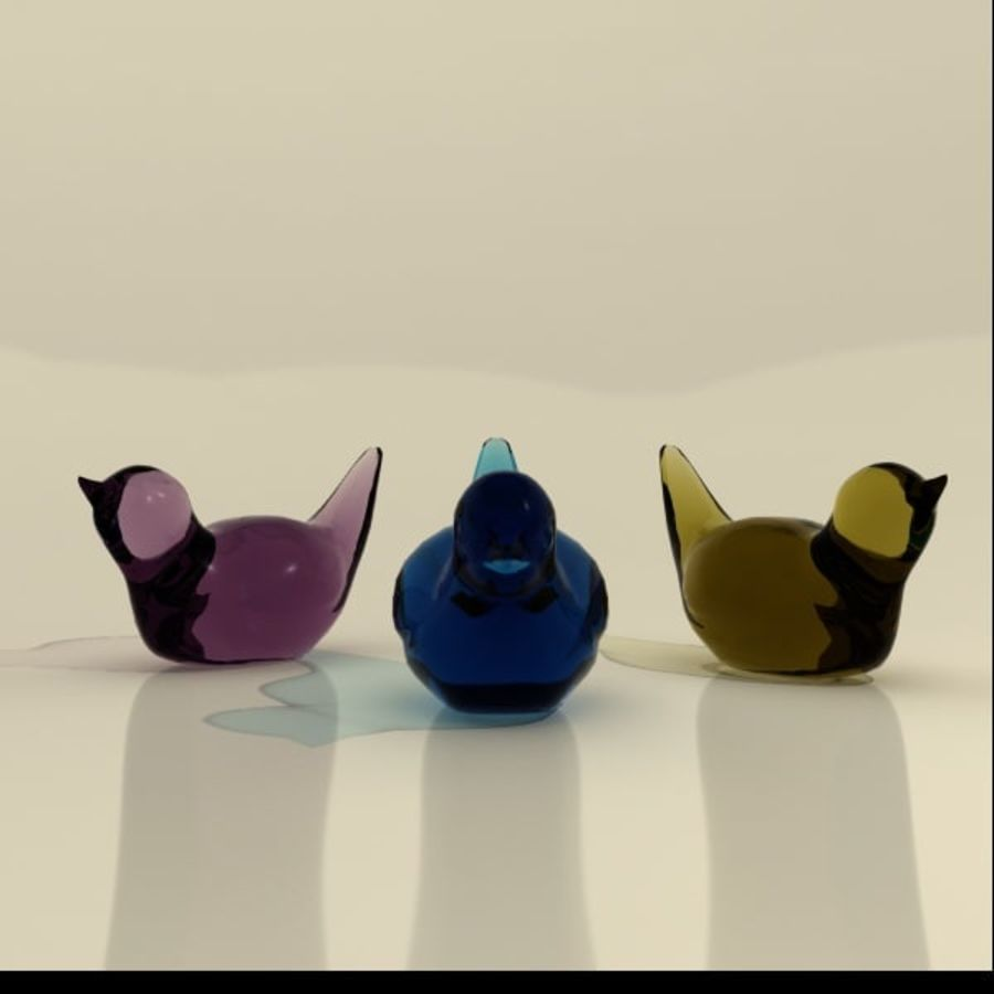 trinket birds royalty-free 3d model - Preview no. 2