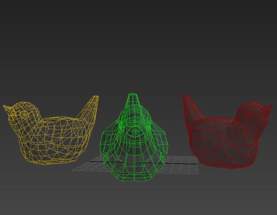 trinket birds royalty-free 3d model - Preview no. 3