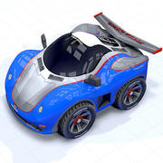 toon car sport race 3d model