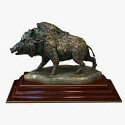 野猪雕像 3d model