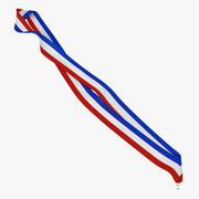 Medal Ribbon 4 3D Model 3d model