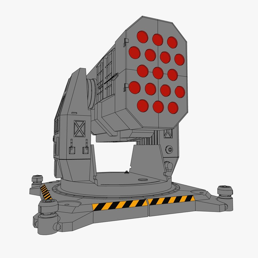Rocket Launcher royalty-free 3d model - Preview no. 4