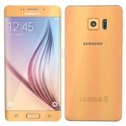 삼성 Galaxy S6 edge gold 3d model