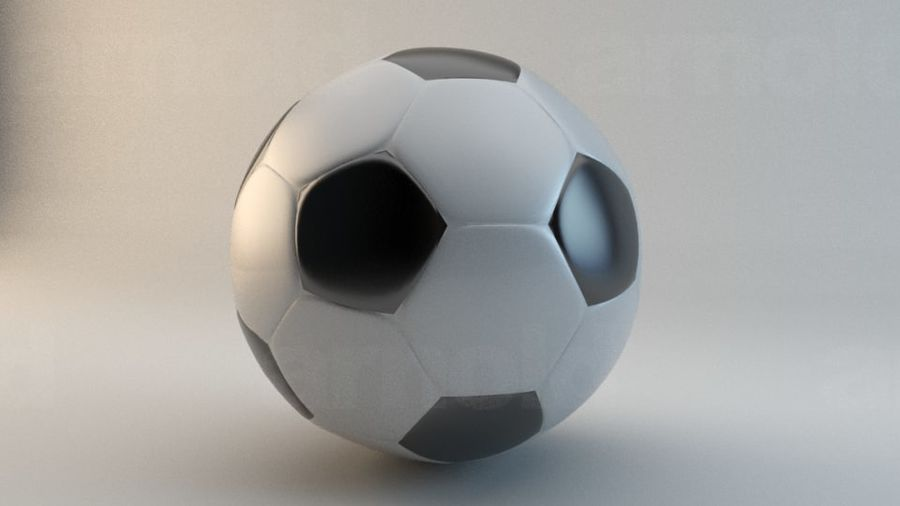Football royalty-free 3d model - Preview no. 1