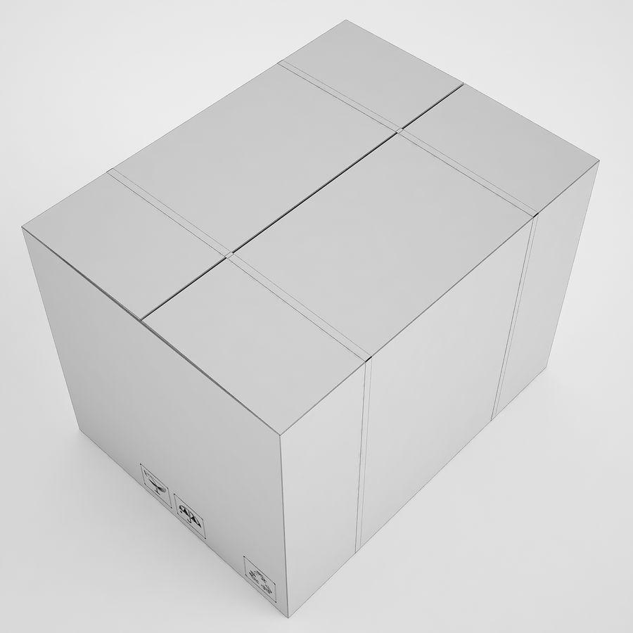 Boîte en carton 01 royalty-free 3d model - Preview no. 7
