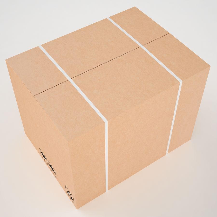 Boîte en carton 01 royalty-free 3d model - Preview no. 10