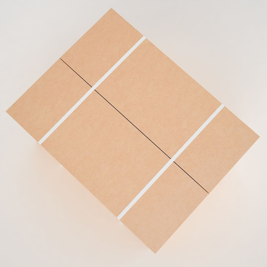 Boîte en carton 01 royalty-free 3d model - Preview no. 12