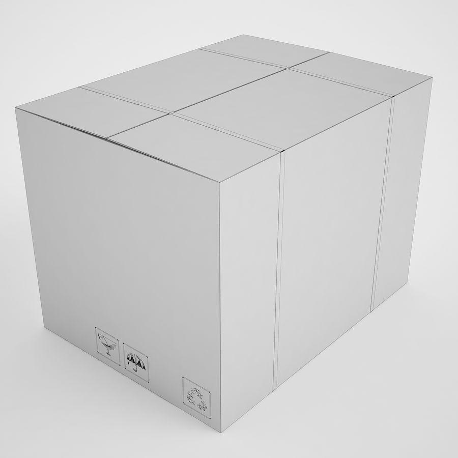 Boîte en carton 01 royalty-free 3d model - Preview no. 3