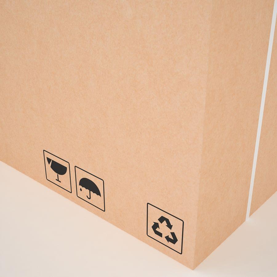 Boîte en carton 01 royalty-free 3d model - Preview no. 18