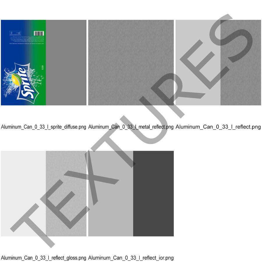 알루미늄 깡통 0.33L 스프라이트 royalty-free 3d model - Preview no. 17