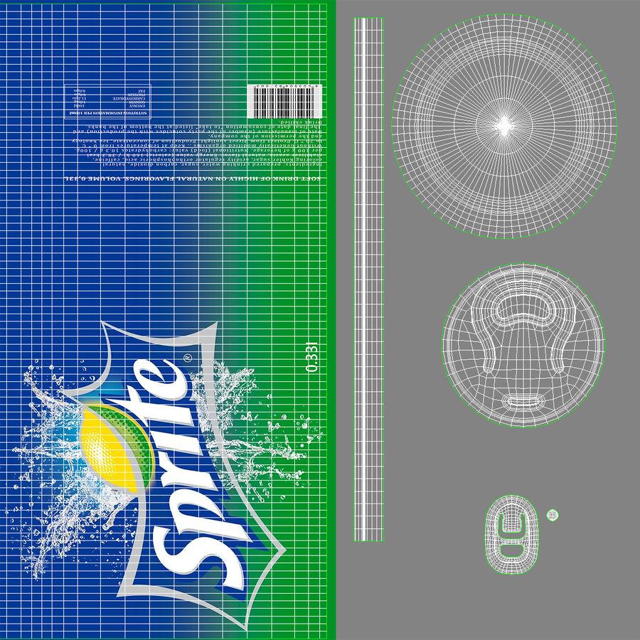 알루미늄 깡통 0.33L 스프라이트 royalty-free 3d model - Preview no. 16