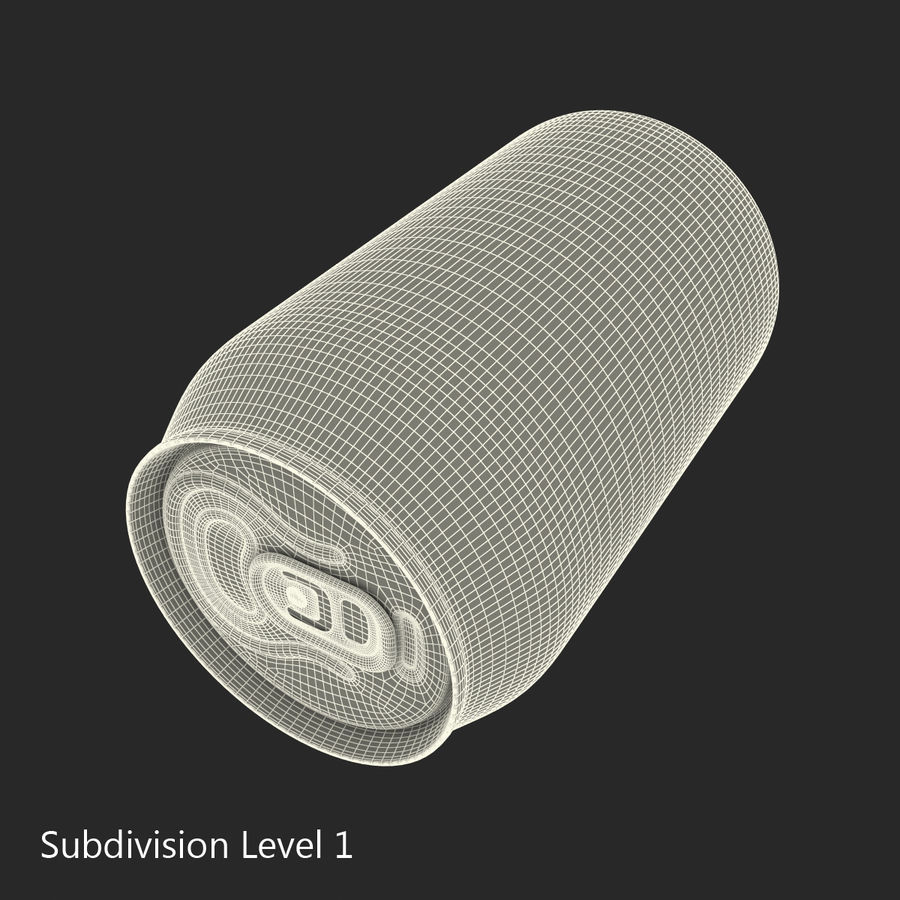알루미늄 깡통 0.33L 스프라이트 royalty-free 3d model - Preview no. 15