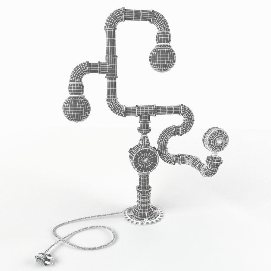 灯蒸汽朋克 royalty-free 3d model - Preview no. 10