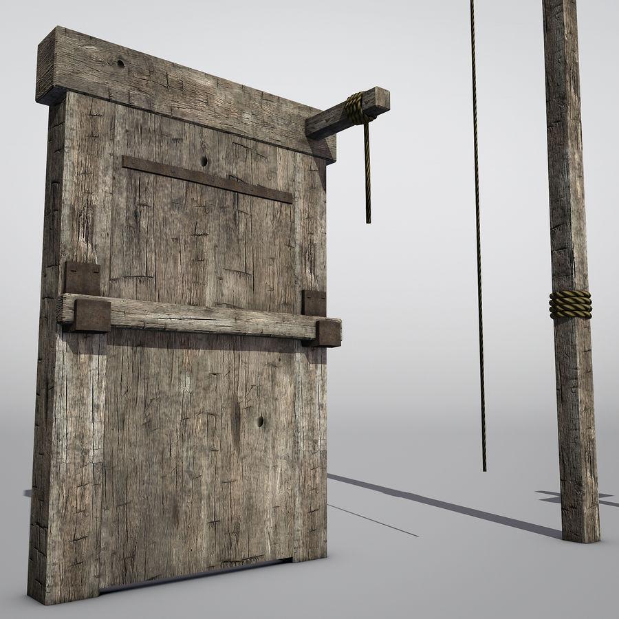 Średniowieczny zestaw sprzętu Low Poly royalty-free 3d model - Preview no. 5