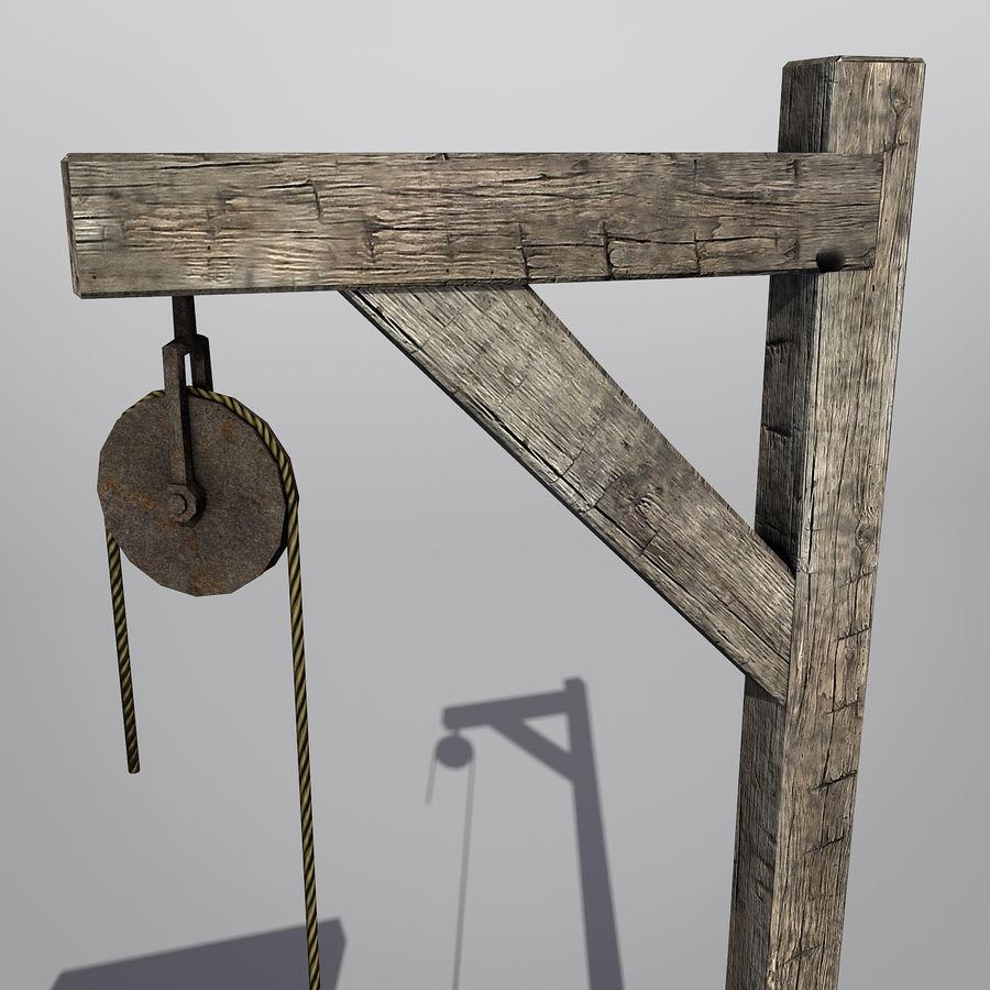 Średniowieczny zestaw sprzętu Low Poly royalty-free 3d model - Preview no. 4