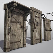 Conjunto de Hardware Medieval Low Poly 3d model