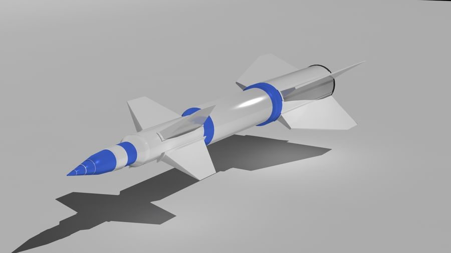 Missle royalty-free 3d model - Preview no. 1