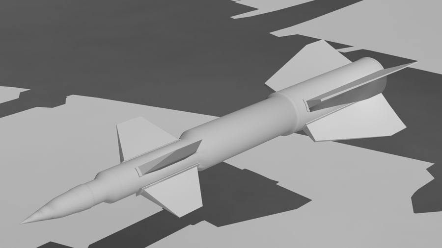 Missle royalty-free 3d model - Preview no. 5
