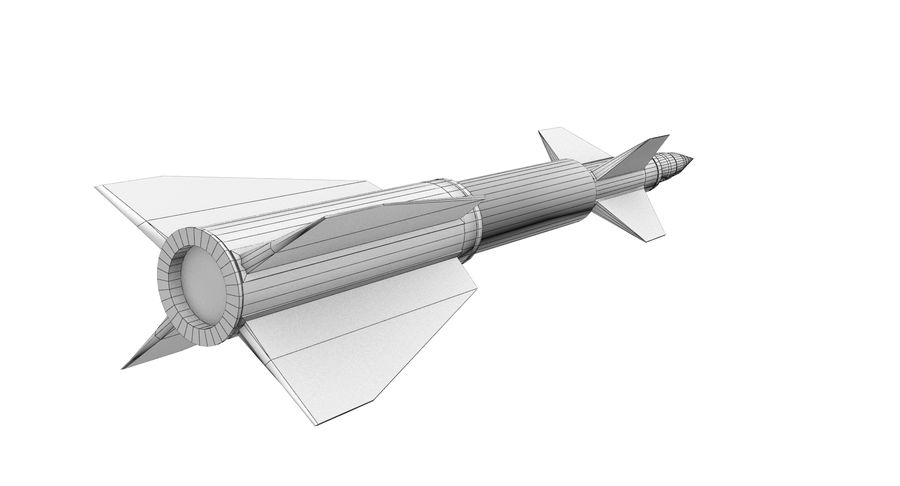Missle royalty-free 3d model - Preview no. 7