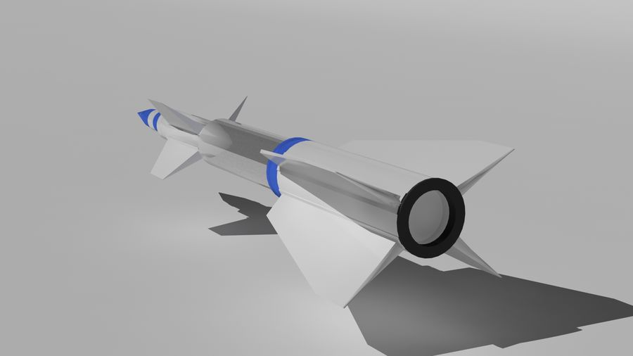 Missle royalty-free 3d model - Preview no. 3